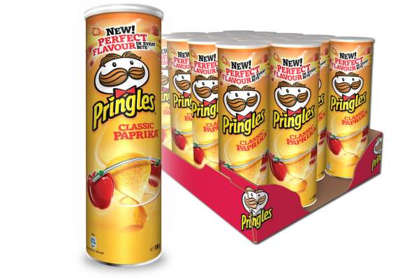 Pringles Classic Paprika Chips Rolle 19x 200g