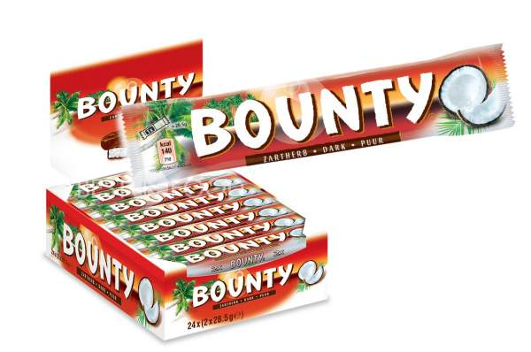 Bounty Zartherb Schokoriegel 24x 57g