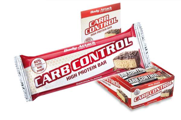 Body Attack Carb Control Riegel Marzipan 15x 100g