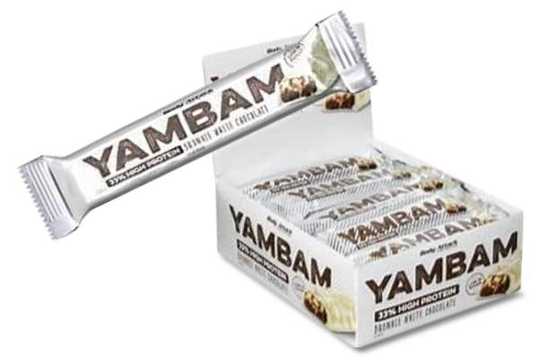 Body Attack Yambam Protein Riegel Brownie White Chocolate 18x 40g
