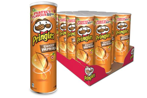 Pringles Sweet Paprika Chips Rolle 19x 200g