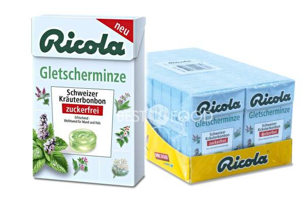 Ricola Gletscherminze Box 20x 50g