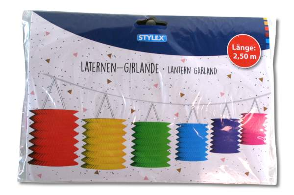 Party Girlande bunte Laternen 14387