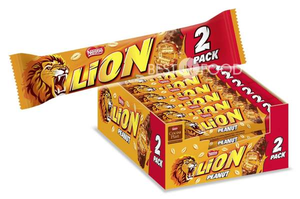 Nestle Lion 2Pack Peanut Schokoriegel 28x 62g