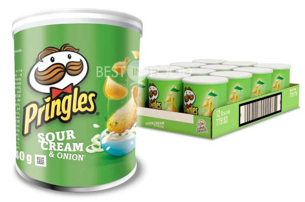 Pringles Sour Cream & Onion Chips Rolle 12x 40g