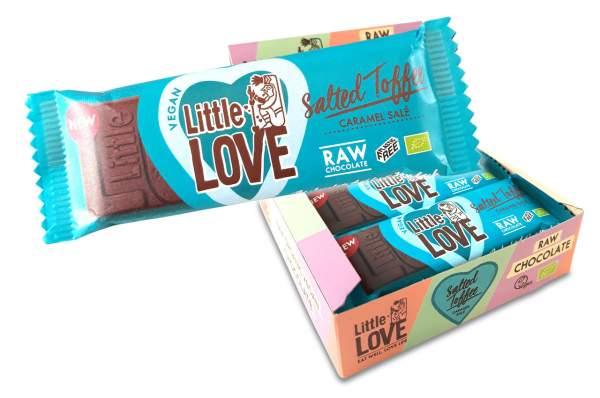 Little Love Organic Bar Salted Toffee 12x 25g Riegel