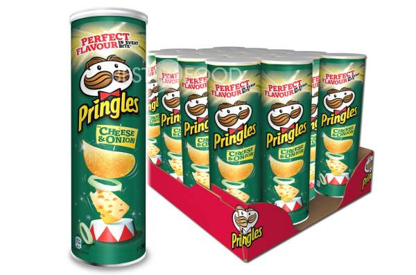 Pringles Cheese & Onion Chips Rolle 19x 200g