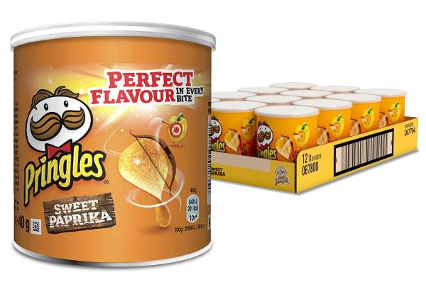 Pringles Paprika Sweet Chips Rolle 12x 40g